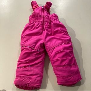 Hawke & Co Ski Pants 12 Months Pink Bibs Rainbow
